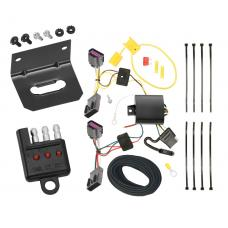 Trailer Wiring and Bracket and Light Tester For 2012 Chevy Orlando --Canada Only-- 4-Flat Harness Plug Play