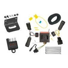 Trailer Wiring and Bracket and Light Tester For 13-16 Ford Escape All Styles 4-Flat Harness Plug Play