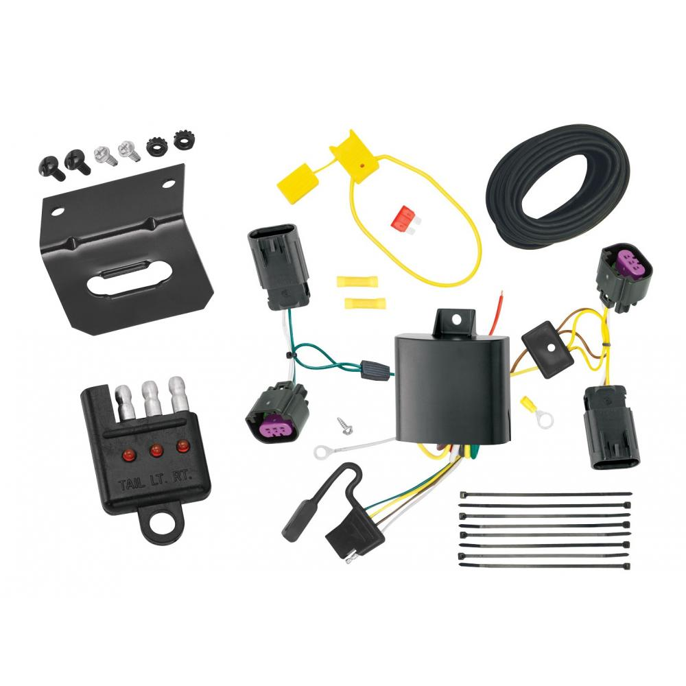 [ANLQ_8698]  Trailer Wiring and Bracket and Light Tester For 12-20 Dodge Journey without  LED Taillights 4-Flat Harness Plug Play | Dodge Journey Wiring Harness |  | TrailerJacks.com