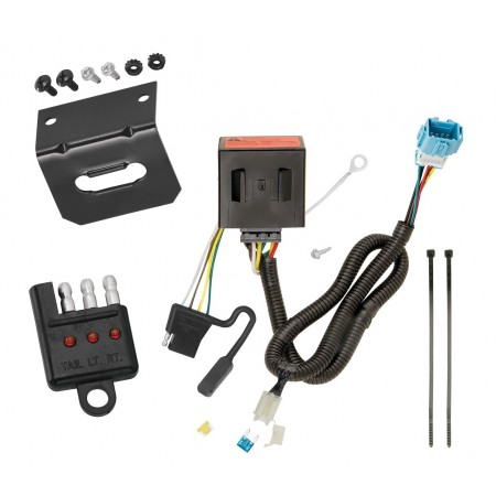 Trailer Wiring and Bracket and Light Tester For 13-18 Acura RDX All Styles 4-Flat Harness Plug Play