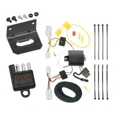 Trailer Wiring and Bracket and Light Tester For 12-17 KIA Rio 4 Dr. Sedan 12-16 Rio 5 Dr. Hatchback 4-Flat Harness Plug Play