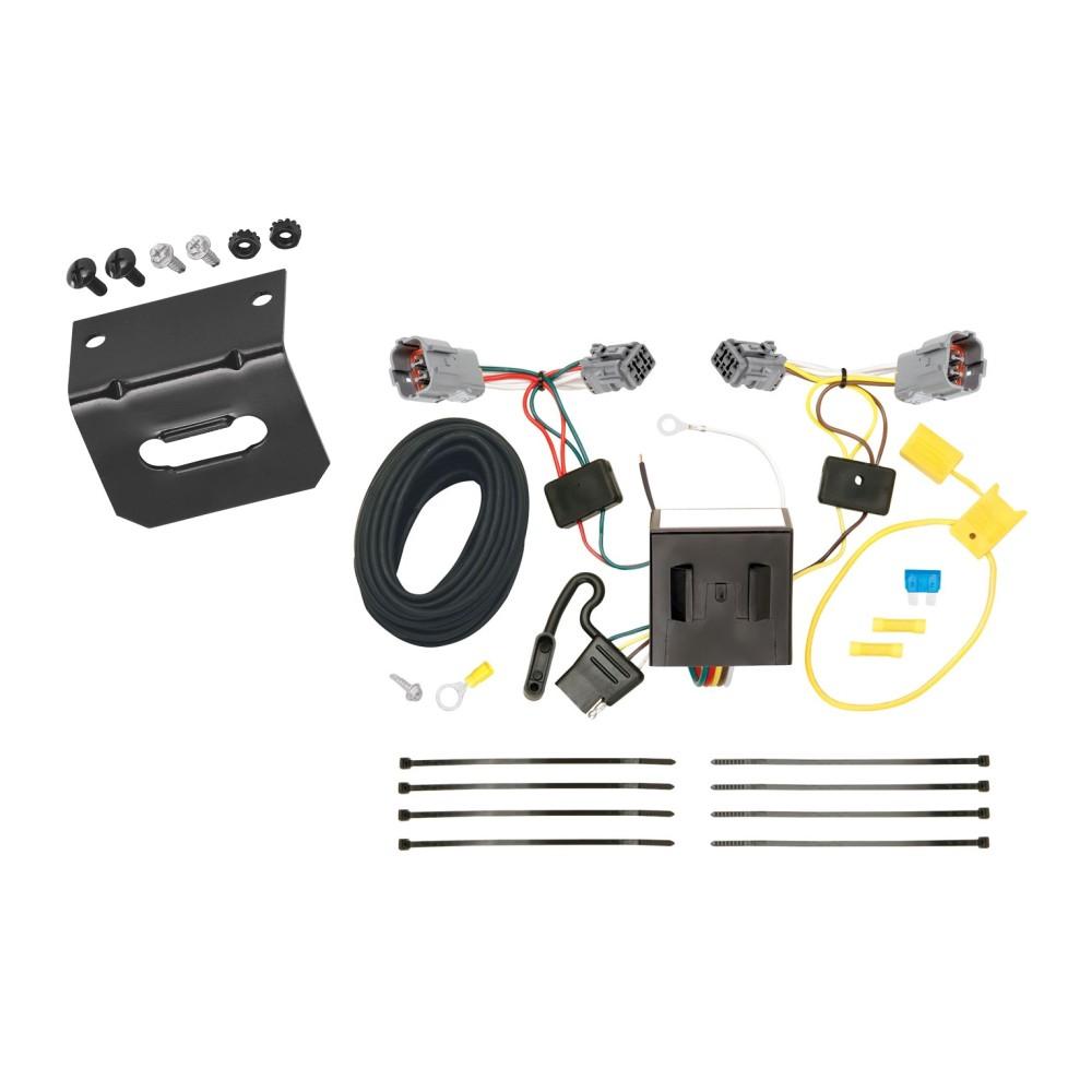 Trailer Wiring and Bracket For 13-18 Hyundai Santa Fe Sport (5 Passenger)  4-Flat Harness Plug PlayTrailerJacks.com