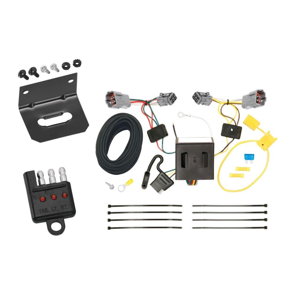 trailer wiring and bracket and light tester for 13-18 hyundai santa fe  sport (5 passenger)