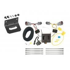 Trailer Wiring and Bracket For 13-18 Hyundai Santa Fe Sport (5 Passenger) 4-Flat Harness Plug Play
