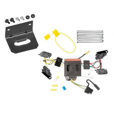 Trailer Wiring and Bracket For 11-18 VW Volkswagen Jetta 4 Dr. Sedan 4-Flat Harness Plug Play