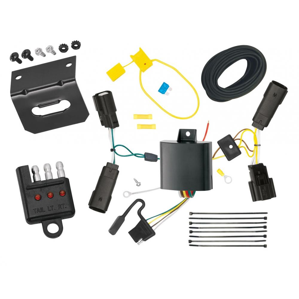 Trailer Wiring and Bracket and Light Tester For 13-20 Ford Fusion All  Styles 4-Flat Harness Plug PlayTrailerJacks.com