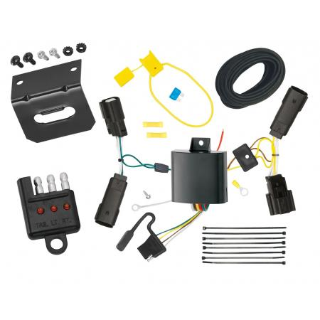 Trailer Wiring and Bracket and Light Tester For 13-20 Ford Fusion All Styles 4-Flat Harness Plug Play