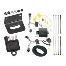Trailer Wiring and Bracket and Light Tester For 13-15 Chevy Spark All Styles 4-Flat Harness Plug Play