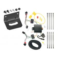 Trailer Wiring and Bracket For 13-15 Chevy Spark All Styles 4-Flat Harness Plug Play