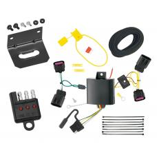 Trailer Wiring and Bracket and Light Tester For 13-20 Cadillac ATS All Styles 4-Flat Harness Plug Play