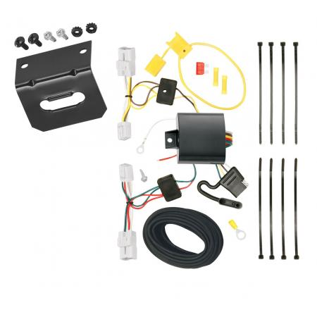 Trailer Wiring and Bracket For 12-16 Subaru Impreza 4 Dr. Sedan Except WRX and Sti 4-Flat Harness Plug Play