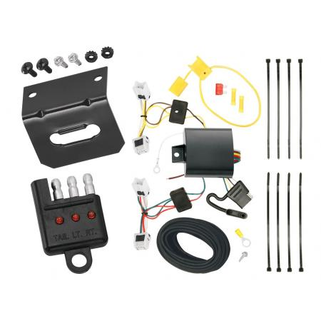 Trailer Wiring and Bracket and Light Tester For 13-19 Nissan Sentra 14-19 Versa Note All Styles 4-Flat Harness Plug Play