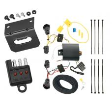 Trailer Wiring and Bracket and Light Tester For 14-19 KIA Sorento w/ I4 Engine 4-Flat Harness Plug Play