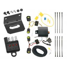 Trailer Wiring and Bracket and Light Tester For 10-13 Ford Transit Connect All Styles 4-Flat Harness Plug Play