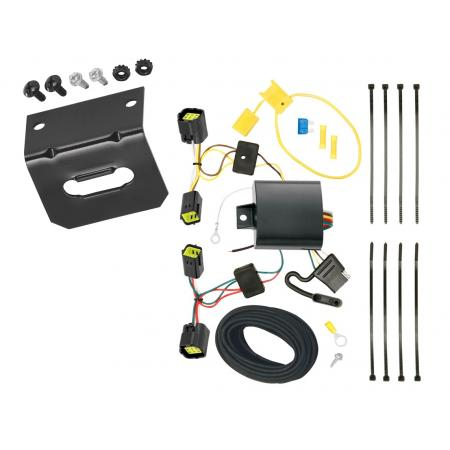 Trailer Wiring and Bracket For 10-13 Ford Transit Connect All Styles 4-Flat Harness Plug Play