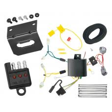 Trailer Wiring and Bracket and Light Tester For 14-17 Mazda 6 Sedan 4-Flat Harness Plug Play