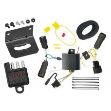 Trailer Wiring and Bracket and Light Tester For 13-20 Lincoln MKZ All Styles 4-Flat Harness Plug Play