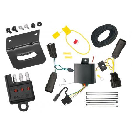 Trailer Wiring and Bracket and Light Tester For 13-19 Lincoln MKZ All Styles 4-Flat Harness Plug Play