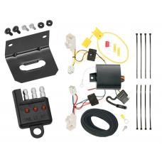 Trailer Wiring and Bracket and Light Tester For 14-18 KIA Forte 4 Dr. Sedan 4-Flat Harness Plug Play