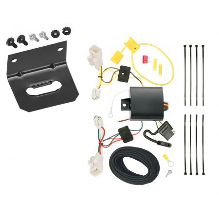 Trailer Wiring and Bracket For 14-18 KIA Forte 4 Dr. Sedan 4-Flat Harness Plug Play