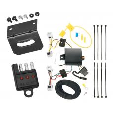 Trailer Wiring and Bracket and Light Tester For 15-17 Chevy City Express 13-17 Nissan NV200 4-Flat Harness Plug Play