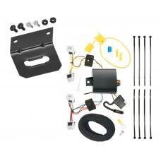Trailer Wiring and Bracket For 15-17 Chevy City Express 13-17 Nissan NV200 4-Flat Harness Plug Play