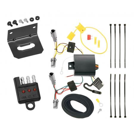 Trailer Wiring and Bracket and Light Tester For 13-15 Chevy Malibu LTZ 2016 Limited LTZ Old Body Style 4-Flat Harness Plug Play