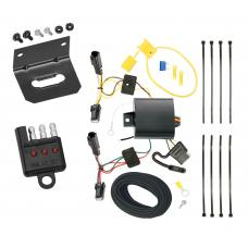 Trailer Wiring and Bracket and Light Tester For 13-15  Chevy Malibu Except LTZ 2016 Limited Except LTZ Old Body Style 4-Flat Harness Plug Play