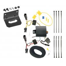 Trailer Wiring and Bracket For 13-15  Chevy Malibu Except LTZ 2016 Limited Except LTZ Old Body Style 4-Flat Harness Plug Play