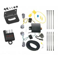 Trailer Wiring and Bracket and Light Tester For 14-18 Jeep Cherokee All Styles 4-Flat Harness Plug Play