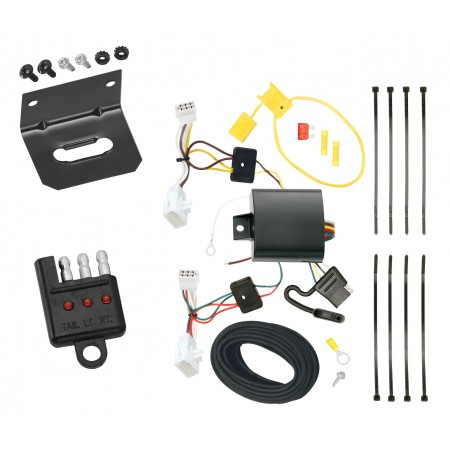 Trailer Wiring and Bracket and Light Tester For 09-13 Lexus IS250 09-14 IS350 All Styles 4-Flat Harness Plug Play