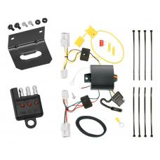 Trailer Wiring and Bracket and Light Tester For 12-17 Toyota Prius V 4-Flat Harness Plug Play