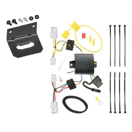 Trailer Wiring and Bracket For 12-17 Toyota Prius V 4-Flat Harness Plug Play