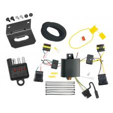 Trailer Wiring and Bracket and Light Tester For 14-15 Fiat 500L 4-Flat Harness Plug Play