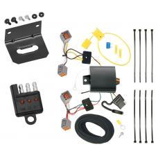 Trailer Wiring and Bracket and Light Tester For 14-20 Ford Transit Connect All Styles 4-Flat Harness Plug Play