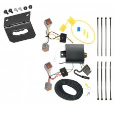 Trailer Wiring and Bracket For 14-20 Ford Transit Connect All Styles 4-Flat Harness Plug Play