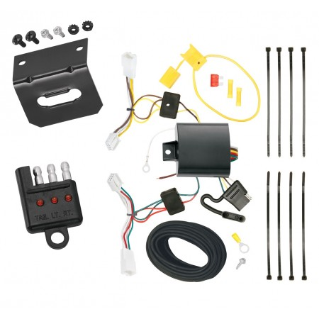 Trailer Wiring and Bracket and Light Tester For 2014 Scion tC All Styles 4-Flat Harness Plug Play