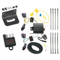 Trailer Wiring and Bracket and Light Tester For 14-20 Dodge Durango All Styles 4-Flat Harness Plug Play