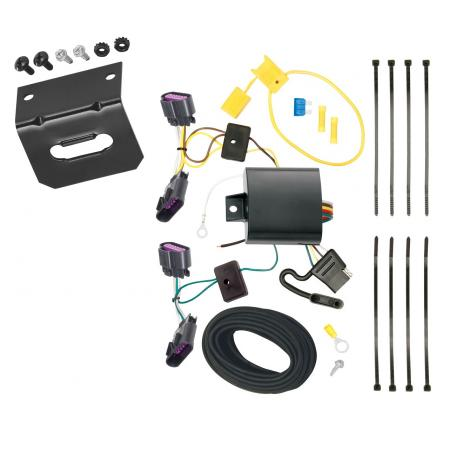 Trailer Wiring and Bracket For 14-20 Dodge Durango All Styles 4-Flat Harness Plug Play