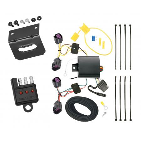 Trailer Wiring and Bracket and Light Tester For 14-19 RAM ProMaster 1500 2500 3500 All Models 4-Flat Harness Plug Play