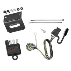 Trailer Wiring and Bracket and Light Tester For 12-14  Land Rover Range Rover Evoque All Styles 4-Flat Harness Plug Play