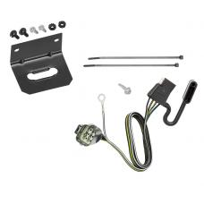 Trailer Wiring and Bracket For 12-14  Land Rover Range Rover Evoque All Styles 4-Flat Harness Plug Play