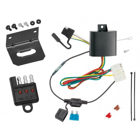 Trailer Wiring and Bracket and Light Tester For 14-20 Acura MDX All Styles 4-Flat Harness Plug Play