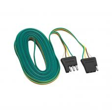4-Flat Wiring Harness Tow Plug Kit Plug Loop, 24 ft Long (Includes 4 Wire Taps)