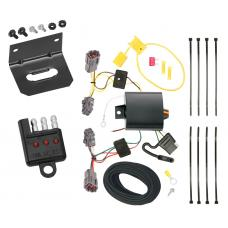 Trailer Wiring and Bracket and Light Tester For 10-19 KIA Soul All Styles 4-Flat Harness Plug Play