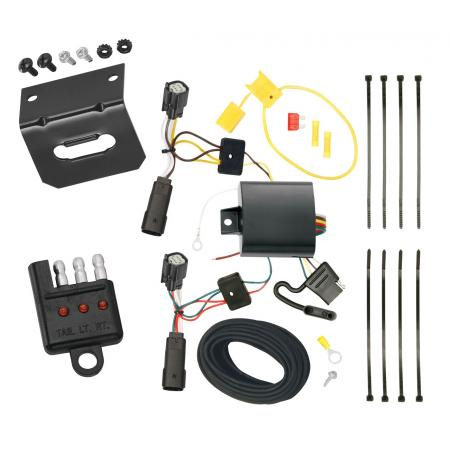 Trailer Wiring and Bracket and Light Tester For 14-17 Buick Regal All Styles 4-Flat Harness Plug Play