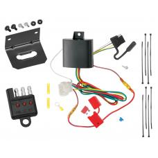 Trailer Wiring and Bracket and Light Tester For 13-15 Honda Crosstour All Styles 4-Flat Harness Plug Play