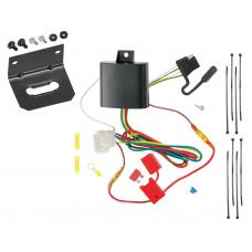 Trailer Wiring and Bracket For 13-15 Honda Crosstour All Styles 4-Flat Harness Plug Play