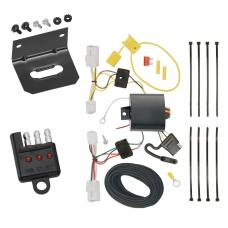 Trailer Wiring and Bracket and Light Tester For 15-17 Hyundai Sonata except Hybrid 4-Flat Harness Plug Play