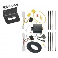 Trailer Wiring and Bracket For 15-17 Hyundai Sonata except Hybrid 4-Flat Harness Plug Play